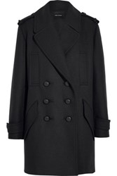 Isabel Marant Karly Oversized Double Breasted Wool Blend Coat Midnight Blue