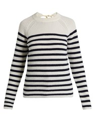 Joseph Sailor Striped Cashmere Sweater Blue Stripe