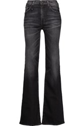 R 13 R13 The Jane Mid Rise Faded Flared Jeans Black