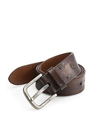 Saks Fifth Avenue Collection Distressed Leather Belt Black