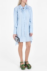 Rochas Stripe Shirt Dress Blue