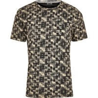 Only And Sons River Island Mens Black White Print T Shirt