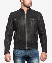 Affliction Men's Fury Road Leather Moto Jacket Black