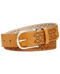 Inc International Concepts Perforated Belt Created For Macy's Cognac