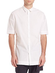 Zanerobe Elongated Short Sleeve Shirt White