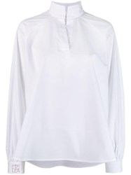 Stella Jean Flared Blouse White