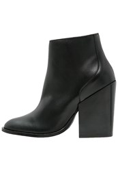 Selected Femme Sftania High Heeled Ankle Boots Black