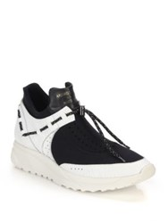 Android Delta Leather And Neoprene Sneakers Black White
