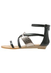 Blowfish Badot Wedge Sandals Black Pewter