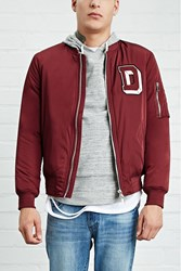 Forever 21 D Patch Bomber Jacket