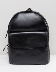 Royal Republiq New Courier Leather Backpack Black