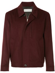 Gieves And Hawkes Boxy Shirt Jacket Red
