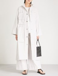 Toogood The Housekeeper Linen And Cotton Blend Coat Milk