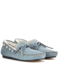 Isabel Marant Etty Suede Loafers Blue