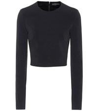 David Koma Cady Crop Top Black