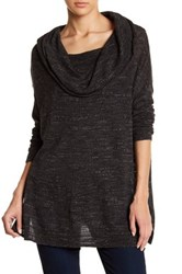 Wild Pearl Lightweight Cowl Neck Pullover Grey Med Char Ht