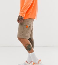 Reclaimed Vintage Cargo Shorts In Stone