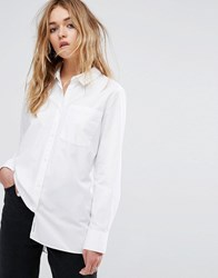 Cheap Monday White Shirt With Pleated Back White
