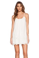Liv Linda Scoop Neck Dress White