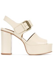 See By Chloe Platform Sandals Nude Neutrals