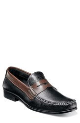 Men's Florsheim 'Felix' Penny Loafer Blk Multi Leather