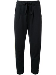 Chinti And Parker Side Stripe Track Pants Black