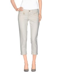 Pinko Grey Denim Denim Capris Women