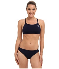 Tyr Durafast Elite Solids Diamondfit Workout Bikini Navy Women's Swimwear Sets
