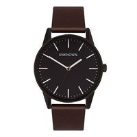 Unknown Men's The Wrap Watch Black Dial Brown