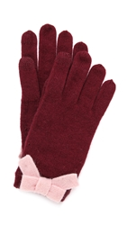 Kate Spade All The Trimmings Bow Gloves Chianti Rosy Dawn