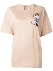 N 21 No21 Beaded Pin Up T Shirt Nude Neutrals
