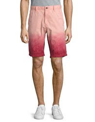 Calvin Klein Jeans Printed Cotton Shorts Red Earth