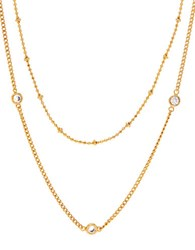 Lord And Taylor Cubic Zirconia Station Necklace Gold