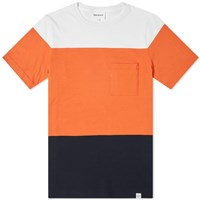 Norse Projects Niels Colour Block Tee Blue