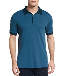 Ag Adriano Goldschmied Delancy Short Sleeve Polo Shirt Blue