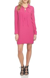 1.State Women's Lace Up Shirtdress