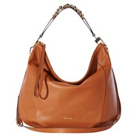 Karen Millen Leather Chain Sling Shoulder Bag Tan
