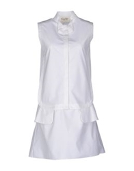 Rue Du Mail Short Dresses White