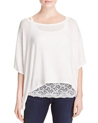 Miraclebody Jeans Miraclebody By Miraclesuit Lace Underlay Sweater White