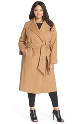 Plus Size Women's George Simonton Couture 'Hollywood' Long Wrap Coat