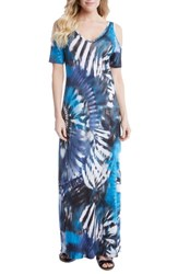 Karen Kane Women's Print Cold Shoulder Maxi Dress