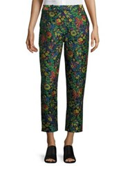 3.1 Phillip Lim Floral Print Pencil Pants Midnight