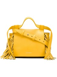 Elena Ghisellini Fringed Sides Crossbody Bag Yellow