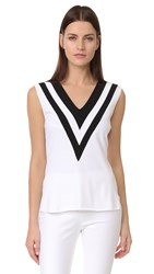 Rag And Bone Daphne Tank White Black