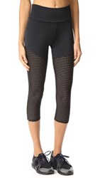 Onzie Mesh Capri Leggings Black Mesh