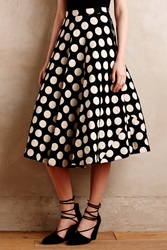 Tracy Reese Dotted Party Skirt Black