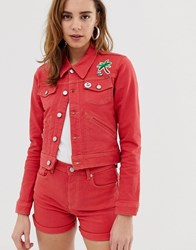 Pepe Jeans Frida Red Denim Jacket