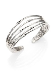 John Hardy Bamboo Sterling Silver Four Band Cuff Bracelet