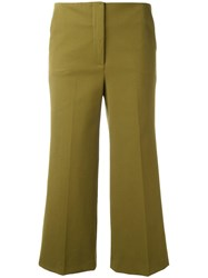 L'autre Chose Flared Cropped Trousers Green