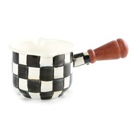 Mackenzie Childs Courtly Check Enamel Butter Warmer